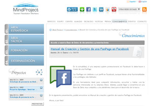 Sitio web de Mindproject